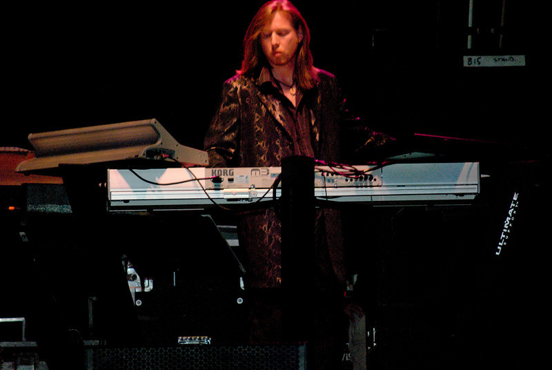 Oliver Wakeman of Yes live on the keyboards at Great Adventure on July 26, 2009 in NJ.