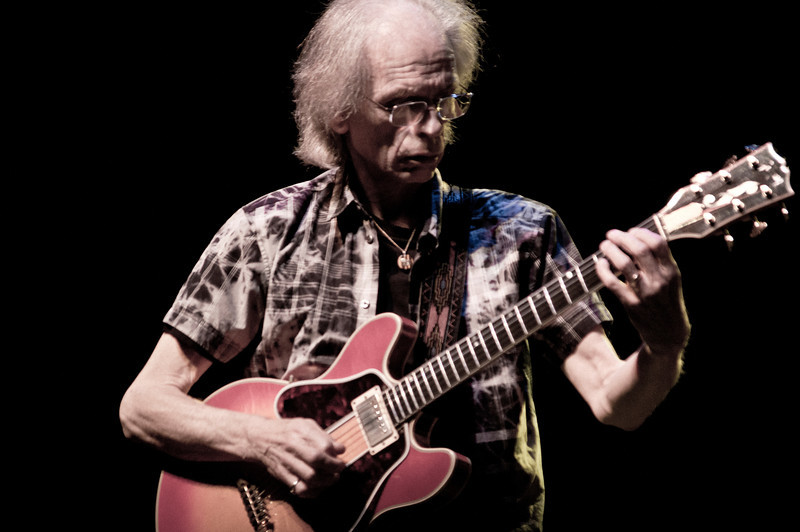 Steve Howe of ASIA on stage at The Count Basie Theater in Red Bank, New Jersey during the 2012 World Tour. Steve is also the legendary lead guitarist of YES.
