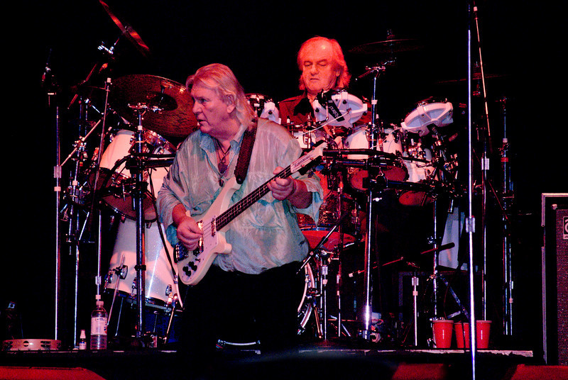 Chris Squire and Alan White of Yes live at Great Adventure on July 26, 2009 in Jackson, NJ.