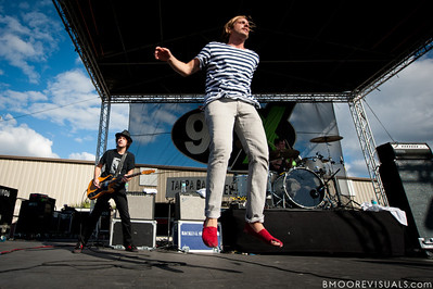 Christopher Thorn and Aaron Bruno of AWOLNATION perform on December 3, 2011 during 97X Next Big Thing at 1-800-ASK-GARY Amphitheatre in Tampa, Florida