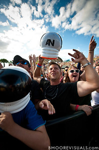 Fans get excited as AWOLNATION performs on December 3, 2011 during 97X Next Big Thing at 1-800-ASK-GARY Amphitheatre in Tampa, Florida