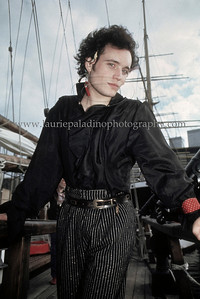 Adam Ant of 1980's English Pop Music Group Adam and The Ants photographed on a pirate ship at the South Street Seaport Museum in New York City 1982 AdamAnt_lp_1005