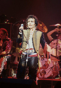 Adam Ant of 1980's English Pop Music Group Adam and The Ants performs live in concert at The Palladium Theater, New York City, 1981 on the English band's first tour of the United States Photo ©Laurie Paladino 1981 AdamAnt_lp_1015