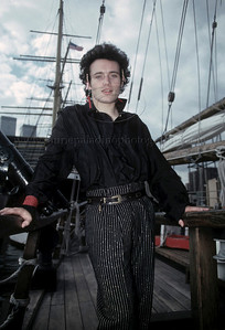 Adam Ant photographed on a pirate ship at the South Street Seaport Museum in New York City 1982 by ©Laurie Paladino AdamAnt_lp_1004