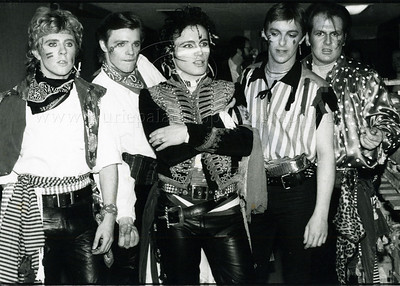 AdamAnt_lp_1037  English 1980's pop group Adam and The Ants photographed on the set of The Tommorrow Show with Tom Synder. Photo ©Laurie Paladino 1981 All Rights Reserved.