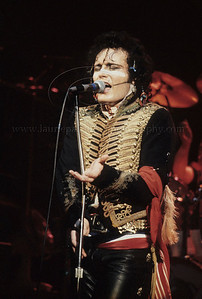 Adam Ant of 1980's English Pop Music Group Adam and The Ants performs live in concert at The Palladium Theater, New York City, 1981 on the English band's first tour of the United States AdamAnt_lp_1014