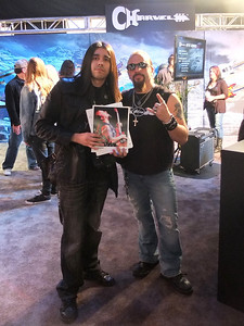 with Mike Orlando @ NAMM 2012, Anaheim, CA.