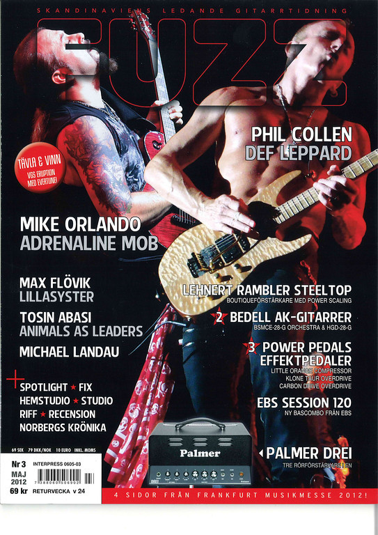 On the cover of Fuzz magazine in Sweden!