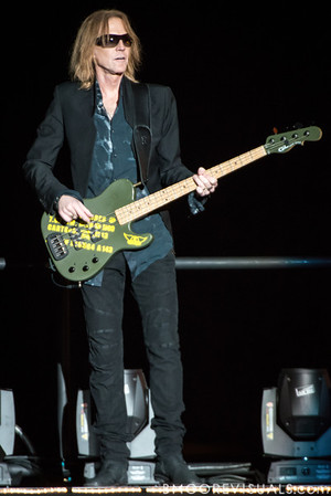 Tom Hamilton of Aerosmith performs on December 11, 2012 during The Global Warming Tour at Tampa Bay Times Forum in Tampa, Florida