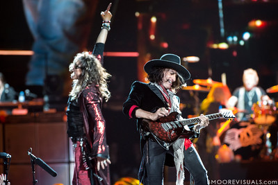 Steven Tyler and Joe Perry of Aerosmith perform on December 11, 2012 during The Global Warming Tour at Tampa Bay Times Forum in Tampa, Florida