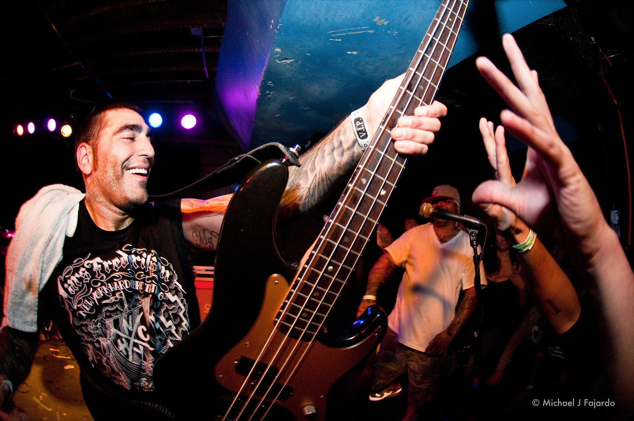 Mike Gallo<br /> Agnostic Front<br /> Marquis Theater<br /> Denver, CO  09/14/11