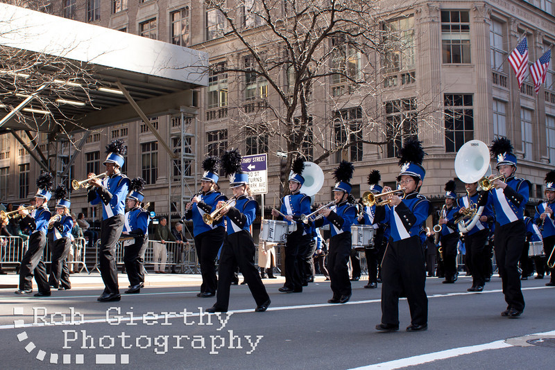 The Albany Falcons Marching Band went to New York City to march in the 250th NYC Saint Patrick's Day Parade.