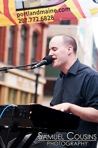Will Gattis and his band playing at Alive at Five in Monument Square.