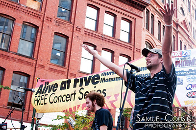 , at the Alive at Five concert series in Monument Square.
