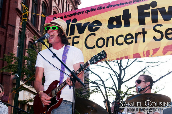 Dominic and the Lucid at Alive at Five in Monument Square