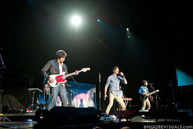 Cameron Michael Quiseng, Zachary David Porter, Dillon Collier Anderson, and Nathan Sean Darmody of Allstar Weekend perform in support of the band's upcoming album All The Way in Clearwater, Florida on July 30, 2011