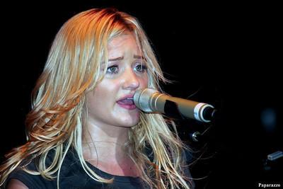 "Amanda Joy Michalka of the singing duo ""Aly & A.J."" performed with Brock Storm in Valdosta, Georgia on June 21, 2008."
