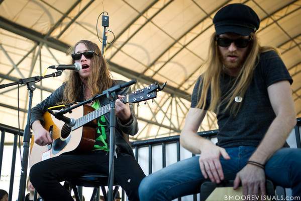 "Jaren Johnston and Neil Mason of American Bang perform a ""secret show"" on December 5, 2010 during 97X Next Big Thing at 1-800-ASK-GARY Amphitheatre in Tampa, Florida"