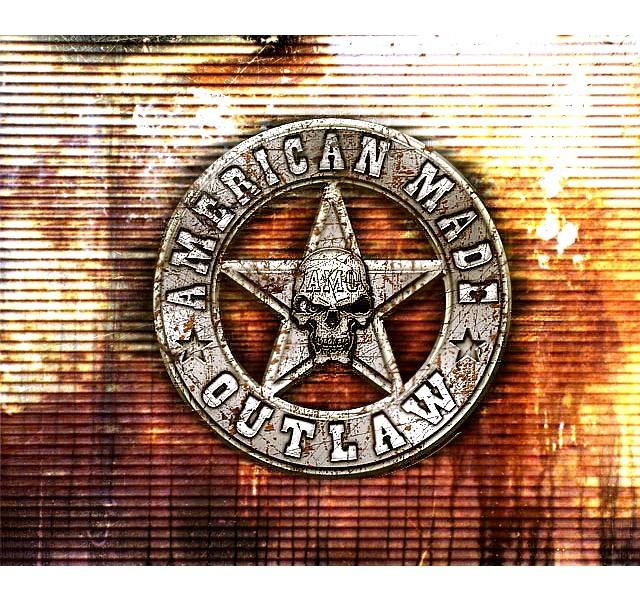 American Made Outlaw Logo  www.americanmadeoutlaw.com  www.american-made-outlaw.tumblr.com
