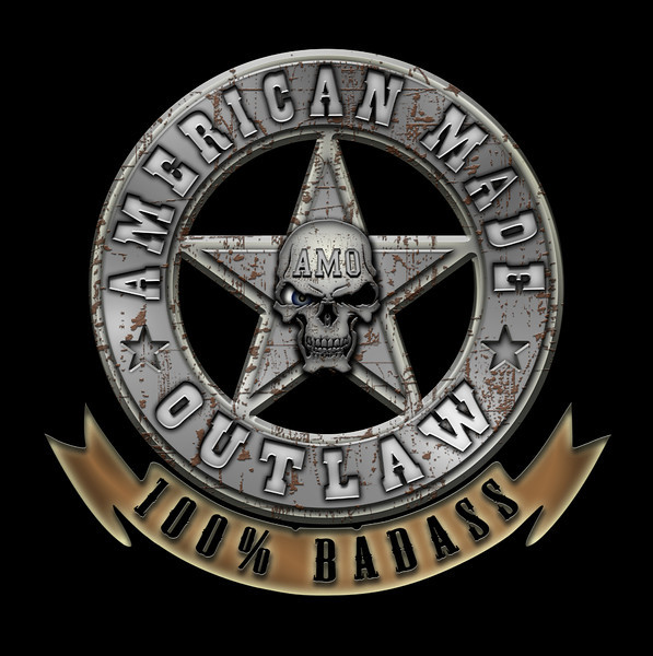 American Made Outlaw Logo  www.americanmadeoutlaw.com  www.american-made-outlaw.tumblr.com