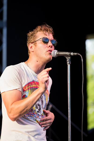 Anderson East opening for Houndmotuh at the MacAllister Amphitheater at Garfield Park June 10, 2016.