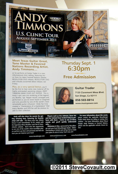 Andy Timmons<BR>Guitar Trader<BR>Sept 1, 2011<P><P>