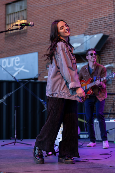 Annie Brown performed at the HI-FI Annex on April 25, 2021. Photo by Tony Vasquez.