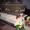 Bruckner's coffin in the crypt