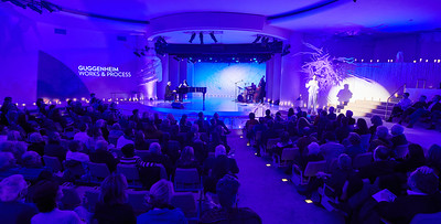 Jan. 6, 2020 - New York, NY   The Guggenheim Museum's Works and Process series presents Opening Night Cabaret: Anthony Roth Costanzo  For one night only, in the New York premiere of his cabaret, he revisits his childhood, drawing on the leading ladies, crooners, and icons that helped form him. And, in a twist, he finds just enough low to balance out his highs.  Developed with the Bearded Ladies Cabaret for Opera Philadelphia's Festival O19. Directed by John Jarboe. Musical arrangements by Heath Allen. Scenic design by Machine Dazzle.  Photographer- Robert Altman Post-production- Robert Altman