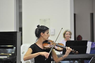 Women in Chamber Music. Last rehearsal, Supreme Court, Darwin 2015