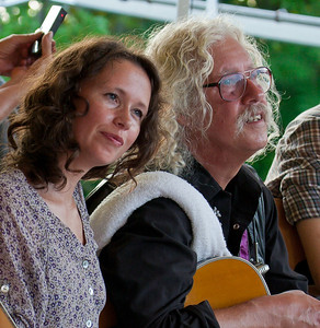 Sarah Lee Guthrie and Arlo Guthrie at the Clearwater Festival.