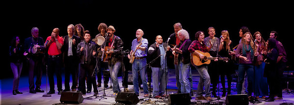 Closing set at Symphony Space in NYC.  Lucy Kaplansky, David Amram, Guy Davis, Loudon Wainwright III, Alana Amram, Richard Barone, Adam Amram, Tao Seeger, Pete Seeger, Toshi Reagon, Tom Chapin, Arlo Guthrie, The Chapn Sisters and The Power of Song.