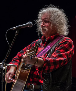 Arlo Guthrie sound check at Symphony Space.