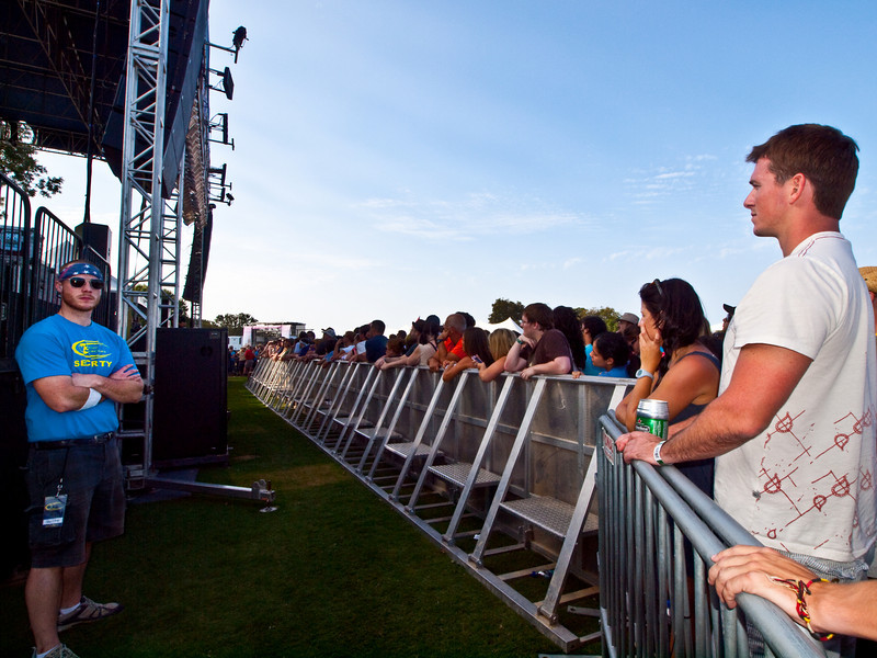 """""""Security detail is not a bad job at the AMD stage""""<br /> Austin City Limits Music Festival 2009<br /> Friday, October 2, 2009<br /> <a href=""""http://www.aclfestival.com/default.aspx"""">http://www.aclfestival.com/default.aspx</a><br /> Photos Courtesy of Sean Murphy © 2009"""