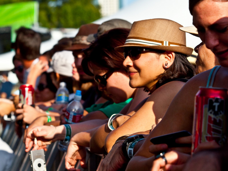 """""""Enjoying the acts""""<br /> Austin City Limits Music Festival 2009<br /> Friday, October 2, 2009<br />  <a href=""""http://www.aclfestival.com/default.aspx"""">http://www.aclfestival.com/default.aspx</a><br /> Photos Courtesy of Sean Murphy © 2009"""