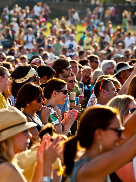 """""""Crowd shot on Friday""""<br /> Austin City Limits Music Festival 2009<br /> Friday, October 2, 2009<br />  <a href=""""http://www.aclfestival.com/default.aspx"""">http://www.aclfestival.com/default.aspx</a><br /> Photos Courtesy of Sean Murphy © 2009"""
