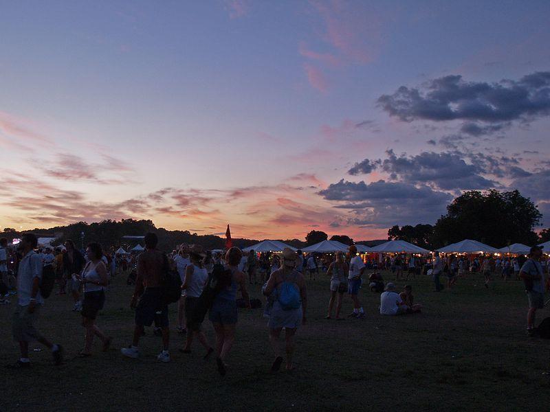 Sunset over Austin City Limits Festival, Saturday, 18 Sept 04.