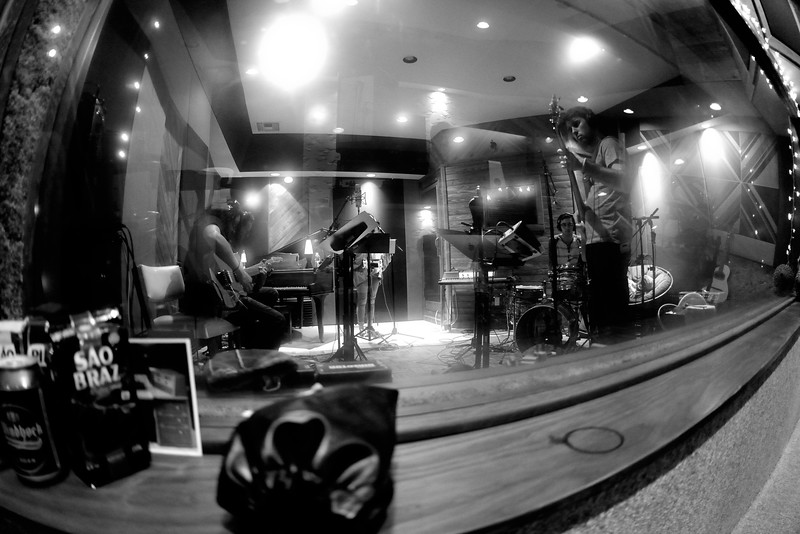 Teagan Taylor Band in the studio.