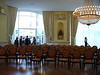The stunning Salle Richmont at the Lausanne Palace Hotel... the concert audience has retired outdoors for the reception.