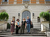 On the steps of the American Academy in Rome.
