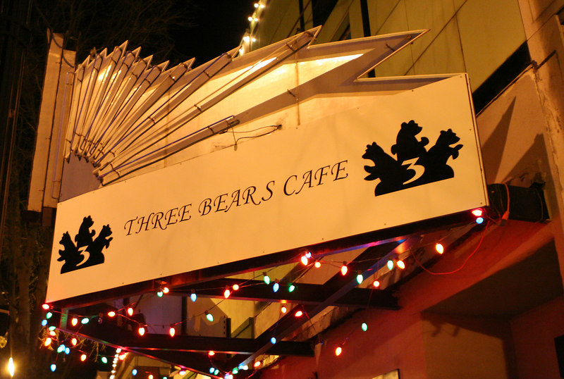 the Atlanta Opry is held at the Three Bears Cafe on the square in Marietta.