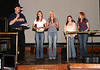 Chelsey Bellnier (2nd from left) is presented a plaque by Allen Coefield, owner of AtlantaCountryMusic.com, as the Top Teen Artist in Georgia in 2007 as voted by the readers of AtlantaCountryMusic.com .