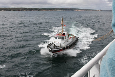 Our pilot boat out of Halifax.
