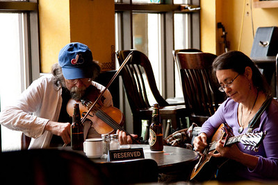 Fiddlers at the Triangle Pub, Sunday afternoon, 9/12.