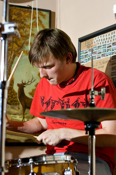 Rory on drums