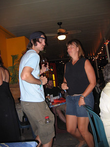 Sherri doing a jig at an after party.