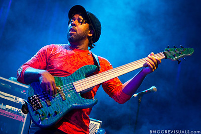 Victor Wooten of Bèla Fleck & The Flecktones performs at Jannus Live in St. Petersburg, FL on October 20, 2011