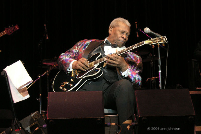 BB King, photo by Ann Johnson
