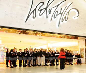 BISHOP EUSTACE PREP CHOIR AT LORD & TAYLOR, MOORESTOWN NJ.  11/13/12
