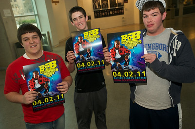 Cole, Mitchell and Andrew of Springboro, OH at the Cintas center for B.o.b